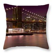 Manhattan By Night Throw Pillow