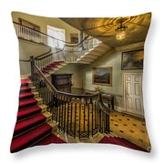 Mansion Stairway Throw Pillow