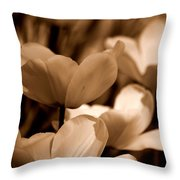 Many Tulips Throw Pillow