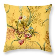 Marble End Paper  Throw Pillow