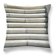 Marble Lines Throw Pillow
