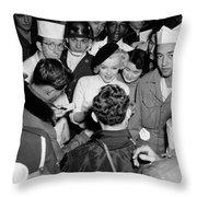 Marilyn Monroe In Korea Throw Pillow