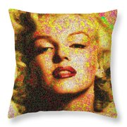 Marilyn Monroe - 100 Dollars Throw Pillow