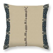 Mccarthy Written In Ogham Throw Pillow