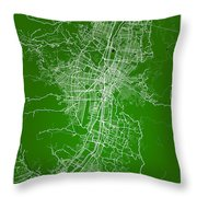 Medellin Street Map - Medellin Colombia Road Map Art On Colored  Throw Pillow