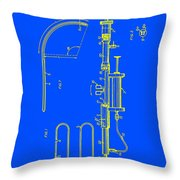 Medical Probe For Injecting Xray Contrast Patent 1970 Throw Pillow