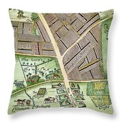 Medieval English Manor Throw Pillow