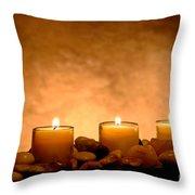Meditation Candles Throw Pillow