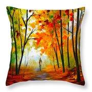 Melody Of Autumn Throw Pillow