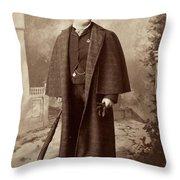Men's Fashion, C1885 Throw Pillow