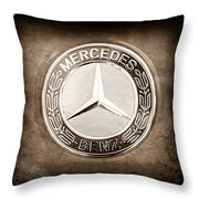 Mercedes-benz 6.3 Amg Gullwing Emblem Throw Pillow
