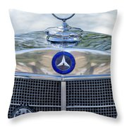 Mercedes-benz Hood Ornament Throw Pillow