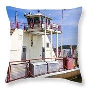 Merrimac Ferry - Wisconsin Throw Pillow