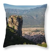 Meteora, Thessaly, Greece. The Eastern Throw Pillow