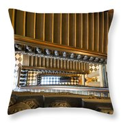 Michigan Capitol Stairwell Throw Pillow