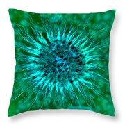 Microscopic View Of Dendrimers Throw Pillow