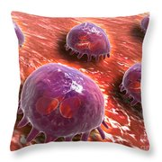 Microscopic View Of Phagocytic Throw Pillow