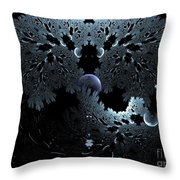Midnight Ocean Waves Throw Pillow