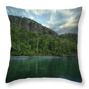 2 Mile Point Cliffs Throw Pillow