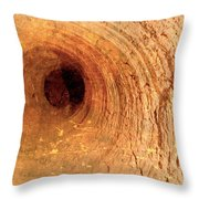 Mine Tunnel Throw Pillow