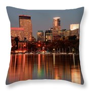 Minneapolis Skyline Throw Pillow