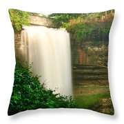 Minnehaha Falls Throw Pillow