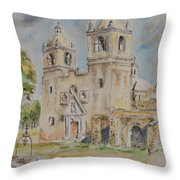 Mission Concepcion Throw Pillow