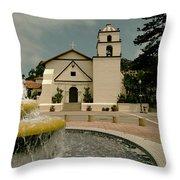 Mission San Buenaventura Throw Pillow