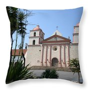 Mission Santa Barbara Throw Pillow