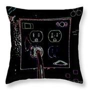 Modern Power Throw Pillow by Joseph Baril