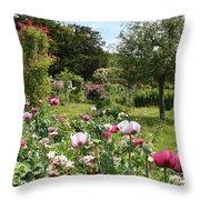 Monets Garden - Giverney - France Throw Pillow