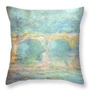 Monet's Waterloo Bridge In London At Sunset Throw Pillow