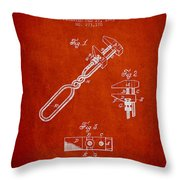 Monkey Wrench Patent Drawing From 1883 Throw Pillow