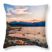 Mono Lake Sunset Throw Pillow