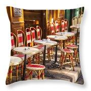 Montmartre Cafe Throw Pillow