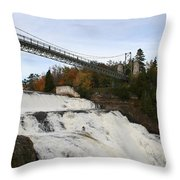 Montmorency Waterfall  Canada Throw Pillow