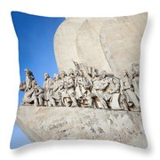 Monument To The Discoveries In Lisbon Throw Pillow