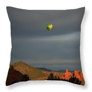 Red Rock Liftoff Throw Pillow