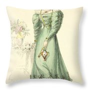 Morning Dress, Fashion Plate Throw Pillow