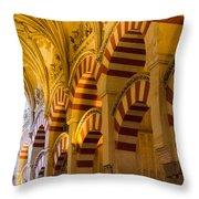 Mosque Cathedral Of Cordoba  Throw Pillow