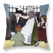 Mother Goose, 1916 Throw Pillow