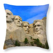 Mount Rushmore South Dakota Throw Pillow