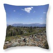 Mount Tallac Trailhead  Throw Pillow
