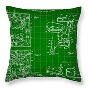 Mouse Trap Board Game Patent 1962 - Green Throw Pillow