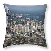 Mr. Justin Verlander Throw Pillow by Nicholas  Grunas