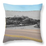 Mrs. J.r. Bush's Indian Spring Cottage In Newport Ri Throw Pillow