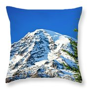 Mt Rainier Throw Pillow