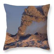 Mt Ruapehu 1996 Eruption New Zealand Throw Pillow
