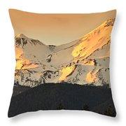Mt. Shasta Sunset Panorama Throw Pillow