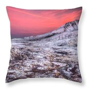 Mt. St. Helens Sunset Throw Pillow